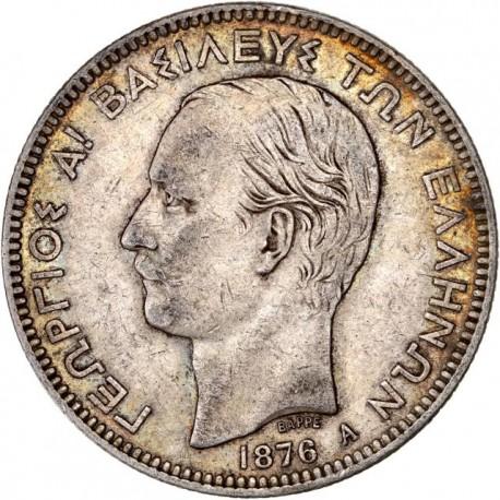 Grèce - 5 drachmes Georges Ier  1876 A