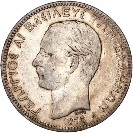 Grèce - 5 drachmes Georges Ier  1875 A