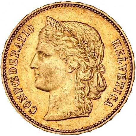 Suisse - 20 francs Helvetia 1892 B