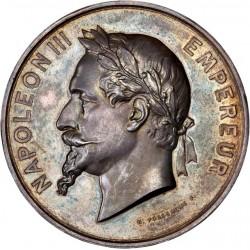 Médaille en argent période Napoléon III - Enseignement