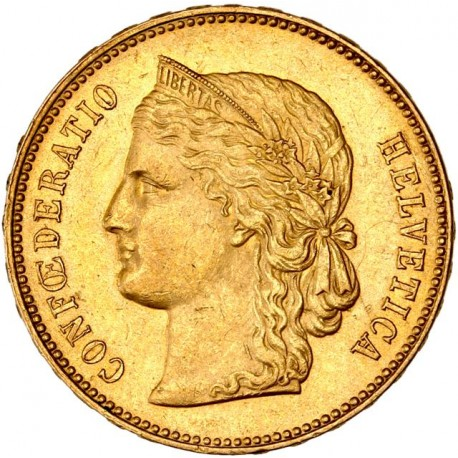 Suisse - 20 francs Helvetia 1896 B