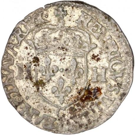 Henri IV - Douzain aux deux H - 1592 C Saint Lô