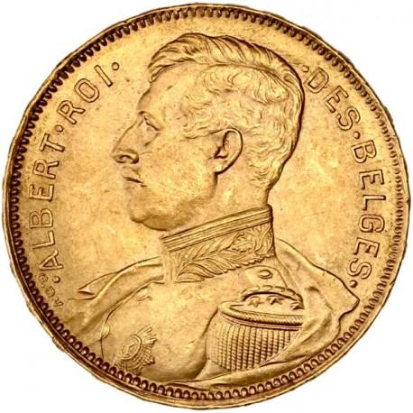 Belgique - 20 francs Albert Ier 1914 légende française