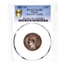 1 franc Charles X 1827 W