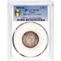 1 franc Napoléon III 1860 A