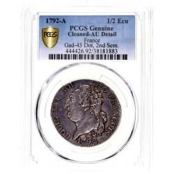 Louis XVI - Demi écu de 3 livres (30 sols) 1792 A
