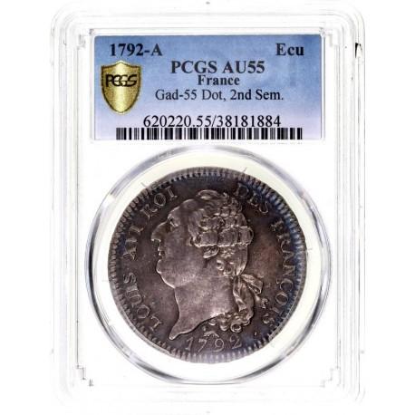 Louis XVI - écu de 6 livres (60 sols) 1792 A