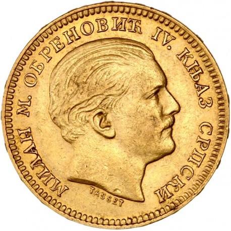 Serbie - 20 dinars 1879 A