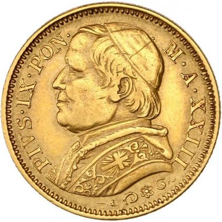 Vatican - 20 lires Pie IX 1868  (an XXIII)
