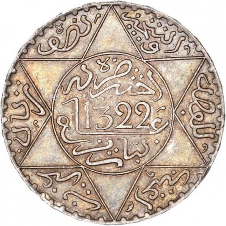 Maroc - 5 dihrams 1322 (1904)