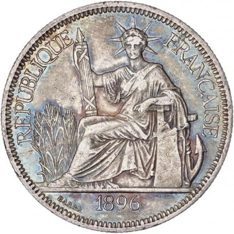 Indochine - 1 piastre de Commerce 1896