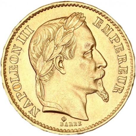 20 francs Napoléon III - 1867 BB
