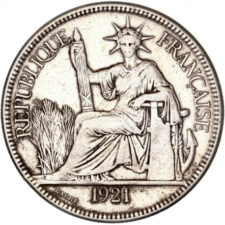 Indochine - 1 piastre de Commerce 1921