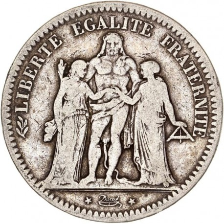 5 francs Hercule 1849 BB