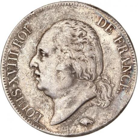 5 francs Louis XVIII 1824 D Lyon