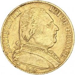 20 francs Louis XVIII 1815 Q