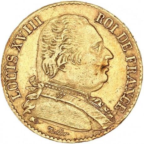 20 francs Louis XVIII 1815/4 L