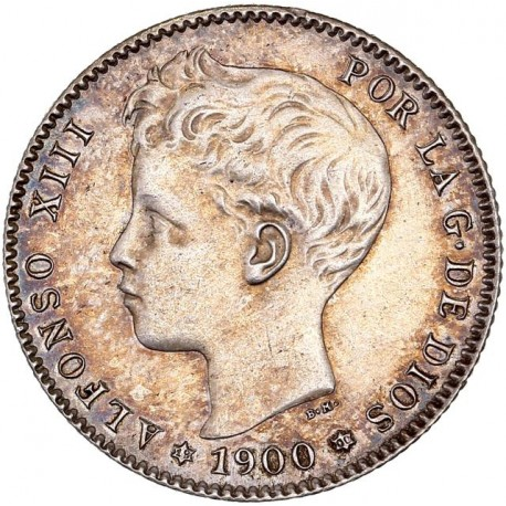 Espagne - 1 peseta Alphonse XIII