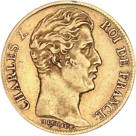 20 francs Charles X 1827 A