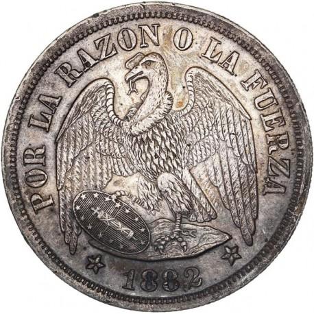 Chili - Un peso 1882