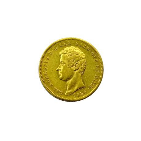 Italie - Royaume de Sardaigne - 50 lires Ch.Albert 1836 Turin