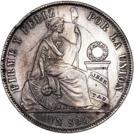 Pérou - 1 Sol 1873 YJ