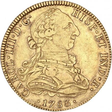 Mexique - 8 escudos Charles III - 1783 Mo FF