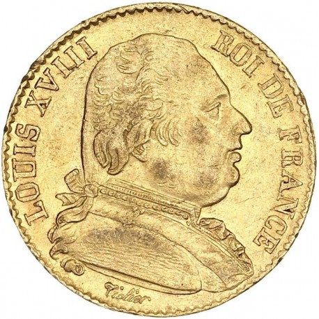 20 francs Louis XVIII 1814 Q