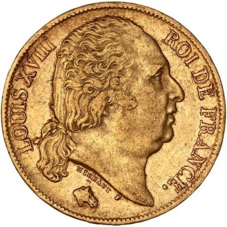 20 francs Louis XVIII - 1824 A