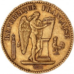 20 francs Génie  - 1848 A