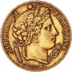 20 francs Cérès 1849 A