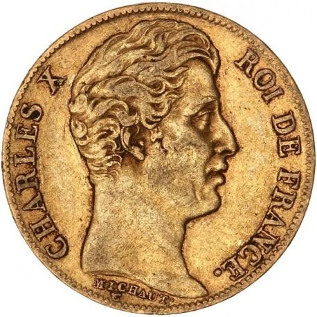 20 francs Charles X 1828 A
