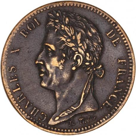 10 centimes Charles X 1825 A - Colonies Françaises