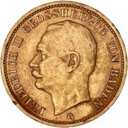Allemagne - Bade - 20 mark 1911 G