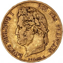 20 francs Louis Philippe Ier 1836 A