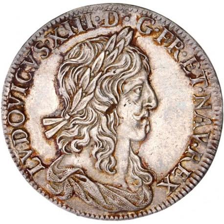 Louis XIII - Demi écu 1642 A premier poinçon de Warin