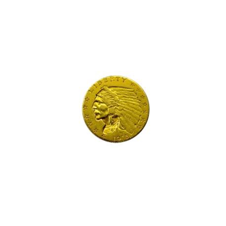 Etats Unis - 2 et demi dollars tête d'indien - 1915