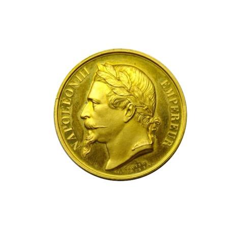 Médaille en or - Ministère de l'agriculture, du commerce et des travaux publics - 1862 LAVAL