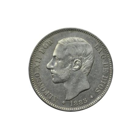 Espagne - 5 pesetas 1885 (87)
