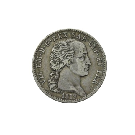 Italie - 5 lires Victor Emmanuel Ier -1819 Turin