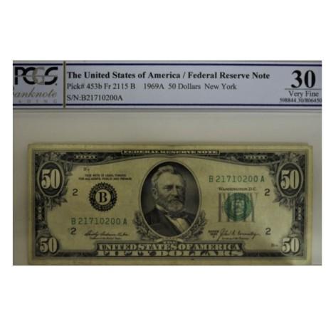 Billet de 50 dollars 1969A - New York