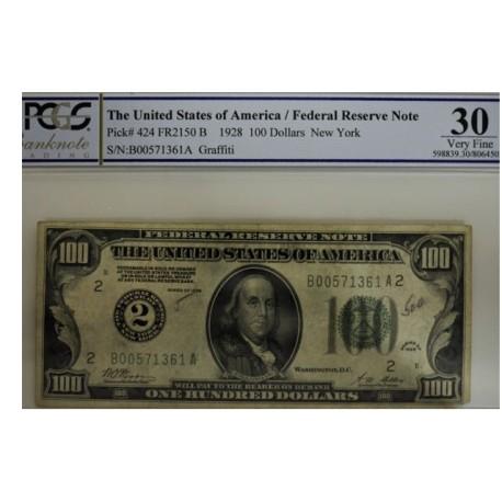 Billet de 100 dollars 1928 - New York