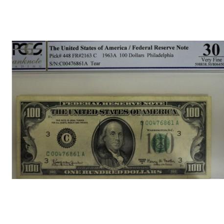 Billet de 100 dollars 1963A - Philadelphie