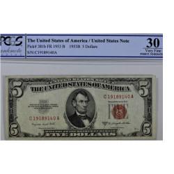 Billet de 5 dollars - 1953 B