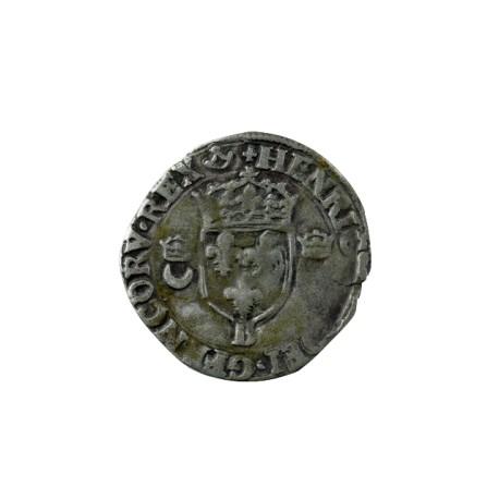 Henri II - Douzain aux croissants - 1550 B Rouen