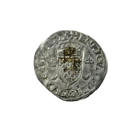 Henri II - Douzain aux croissants - 1550 D Lyon