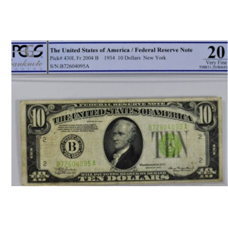 Billet de 10 dollars - 1934 New York