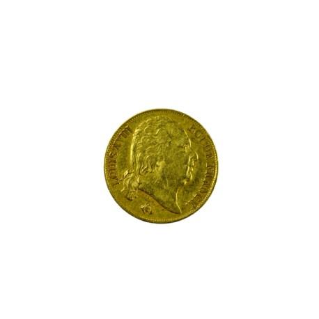 20 francs Louis XVIII - 1817 Q Perpignan